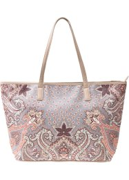 Shopper, bpc bonprix collection, bruin/oranje