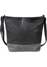 Shopper, bpc bonprix collection, zwart/grijs