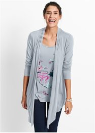 2in1-shirt, bpc bonprix collection, zilvergrijs met print