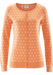 Gebreid vest, bpc bonprix collection, apricot/wit gestippeld