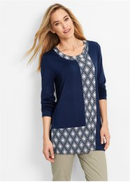 Longshirt, bpc bonprix collection, donkerblauw gedessineerd