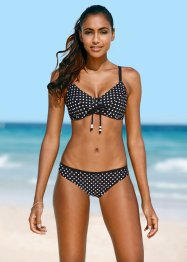 Beugelbikini minimizer (2-dlg. set), bpc bonprix collection, zwart/wit