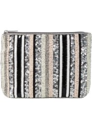 Clutch, bpc bonprix collection, crèmewit/zilverkleur/nude