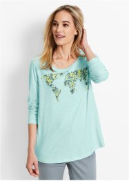 Longsleeve, bpc bonprix collection, poolmint met print