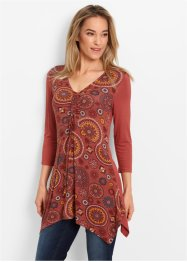 Tuniek, bpc bonprix collection, marsala gedessineerd