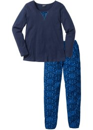 Pyjama, bpc selection, donkerblauw gedessineerd