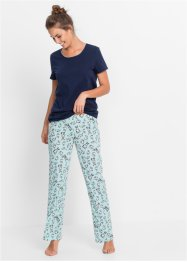 Pyjama (2-dlg.), bpc bonprix collection, donkerblauw gedessineerd