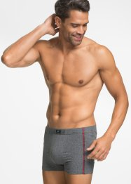 Boxershort (set van 3), bpc bonprix collection, grijs gemêleerd/zwart