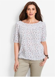 Blouse, bpc bonprix collection, wit met print