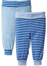Babybroek (set van 2), bpc bonprix collection, gletsjerblauw/lichtblauw/wolwit