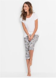 Pyjama (2-dlg.), bpc bonprix collection, wit/gebloemd