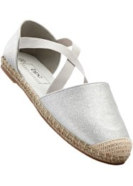 Espadrilles, bpc bonprix collection, zilverkleur