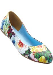 Ballerina's, bpc bonprix collection, grasgroen/paars/blauw