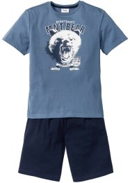 Pyjama (2-dlg. set), bpc bonprix collection, jeansblauw/donkerblauw