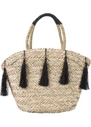 Strandtas, bpc bonprix collection, zwart/naturel