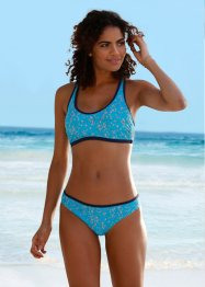 Bustierbikini (2-dlg. set), bpc bonprix collection, turkoois/grijs