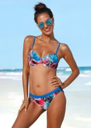 Beugel bikinitop, bpc bonprix collection, blauw/rood