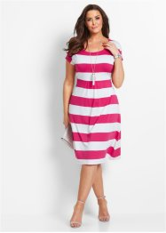 Shirtjurk, bpc selection, donkerpink/wit gestreept