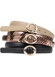 Riem (3-dlg. set), bpc bonprix collection, bruin/beige/metallic