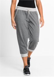 3/4-joggingbroek, bpc bonprix collection, lichtgrijs gemêleerd