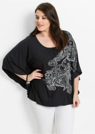 Shirt, bpc bonprix collection, zwart met print
