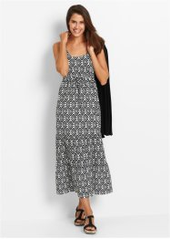 Maxi-jurk, bpc bonprix collection, zwart/wit gedessineerd