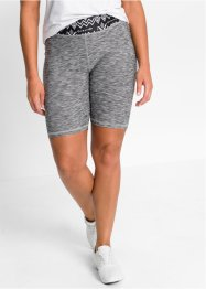Yogashort, bpc bonprix collection, leisteengrijs gemêleerd