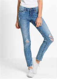 Skinny jeans, RAINBOW, blauw washed