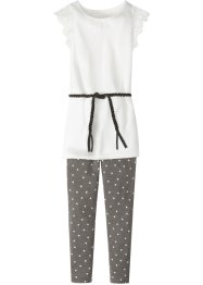Shirt, legging, riem (3-dlg. set), bpc bonprix collection