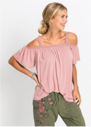 Cold shoulder shirt met kant, RAINBOW
