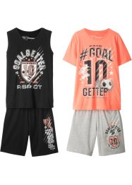 T-shirt+singlet+bermuda's (4-dlg. set), bpc bonprix collection