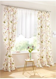 Microvezel gordijn met bloemenprint (2-dlg. set), bpc living bonprix collection