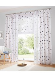 Transparant gordijn met sterrenprint (1 stuk), bpc living bonprix collection