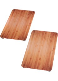 Fornuisafdekplaten «Houten look» (2-dlg. set), bpc living