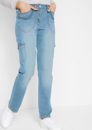 Cargo jeans met borduursel, straight, bpc bonprix collection