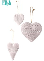 Decoratie met harten (3-dlg. set), bpc living bonprix collection