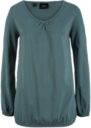 Katoenen longsleeve met elastiek, bpc bonprix collection