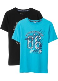 T-shirt (set van 2) biologisch katoen, bpc bonprix collection
