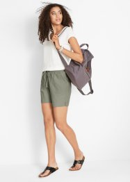 Linnen short met comfortabele band, bpc bonprix collection