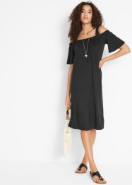 Cold shoulder jurk met brede bandjes, bpc bonprix collection