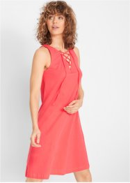 Jersey jurk met vetersluiting, bpc bonprix collection