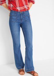 Flared comfort stretch jeans, slim, John Baner JEANSWEAR