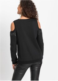 Sweater met cut-outs en studs, RAINBOW