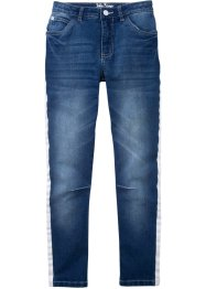 Stretch jeans met tapes opzij, John Baner JEANSWEAR