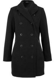 Lange jas in wollen look in trenchcoatlook, bpc bonprix collection