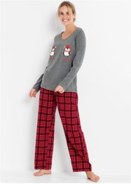 Pyjama met flanellen broek (2-dlg. set), bpc bonprix collection