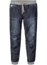 Regular fit jeans met geribde band, straight, RAINBOW