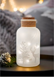 Glazen LED fles met winters design, bpc living bonprix collection