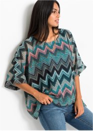 Gedessineerd shirt met chiffon, BODYFLIRT