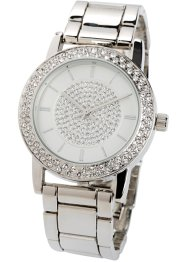 Metalen horloge met Swarovski® kristallen, bpc bonprix collection